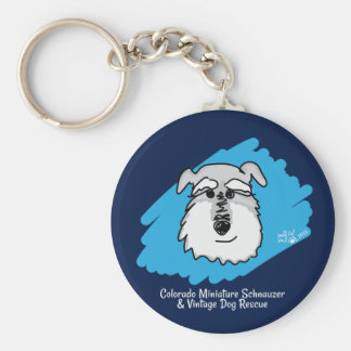 Bowser the Schnauzer Keychain