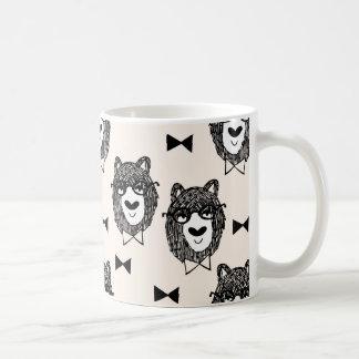 Bowtie Bear - Cream Black White / Andrea Lauren Coffee Mug