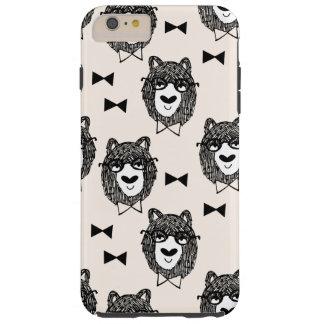Bowtie Bear - Cream Black White / Andrea Lauren Tough iPhone 6 Plus Case