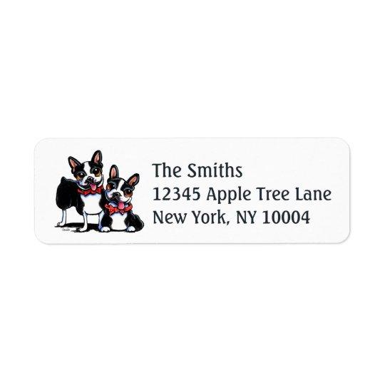Bowtie Boston Terriers Off-Leash Art™
