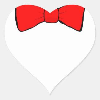 bowtie heart sticker