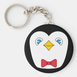 Bowtie penguin keychain