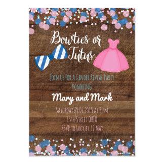 Bowties or Tutus Gender Reveal Invitation