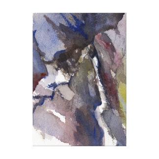 Box Canyon Falls, Ouray, CO watercolor Canvas Print