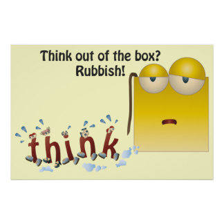 Box Cartoon think-out-of-the-box Poster