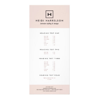 Box Logo Monogram in Light Pink and Black Custom Rack Cards