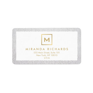 Box Logo Monogram with Elegant Snakeskin Print Label
