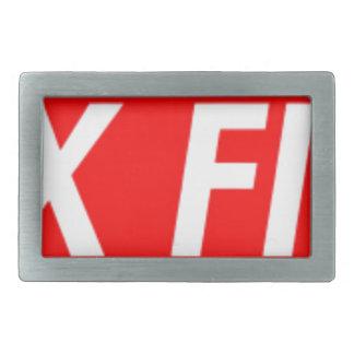 box logo rectangular belt buckle