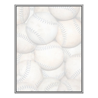 Box of Baseballs Letterhead Template