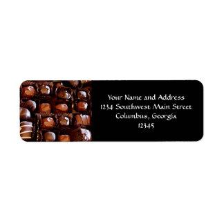 Box of Chocolates, Tempting Chocolate Candy Return Address Label