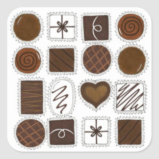 Box of Chocolates Valentine's Day Candy Stickers