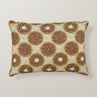 Box of Christmas Donuts Music Sprinkles Food Art Accent Pillow