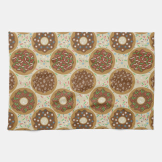 Box of Christmas Donuts Music Sprinkles Food Art Kitchen Towel