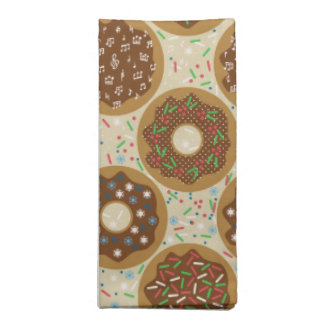 Box of Christmas Donuts Music Sprinkles Food Art Napkin