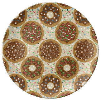 Box of Christmas Donuts Music Sprinkles Food Art Plate