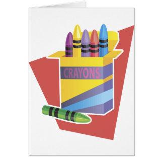 Box Of Crayons Card