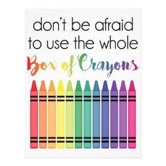 Box Of Crayons Customized Letterhead