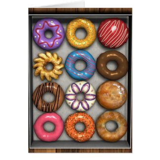 Box of Doughnuts Card
