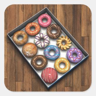 Box of Doughnuts Square Sticker