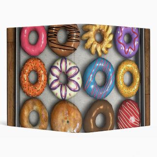 Box of Doughnuts Vinyl Binders