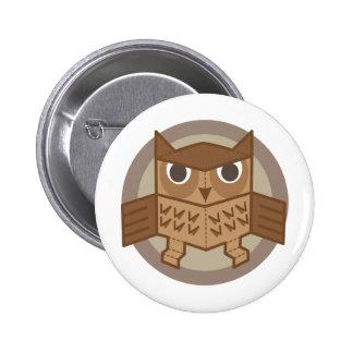box owl 2 inch round button