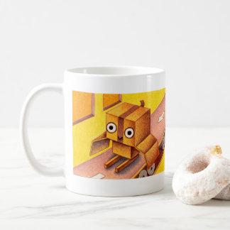 Box owl coffee mug