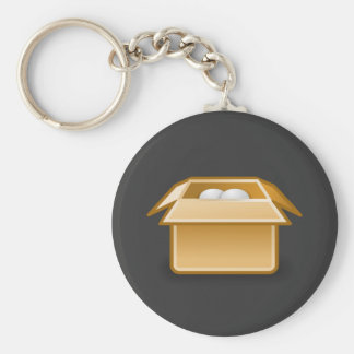 Box Packing Shipping Keychain
