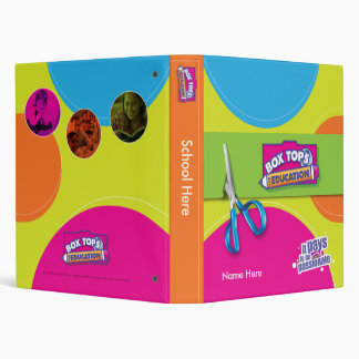 Box Tops for Education 3 Ring Binders