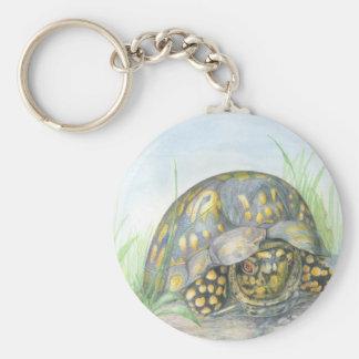 Box Turtle Button Keychain