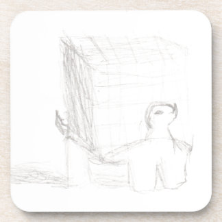 box turtle cube drawing Eliana Coaster