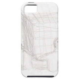 box turtle cube drawing Eliana iPhone 5 Case