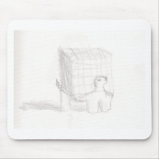 box turtle cube drawing Eliana Mouse Pad