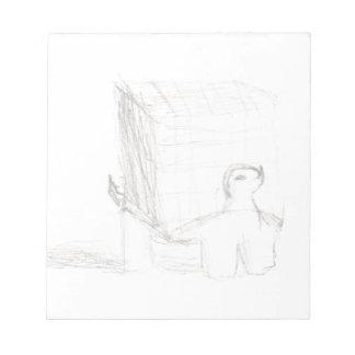box turtle cube drawing Eliana Notepad