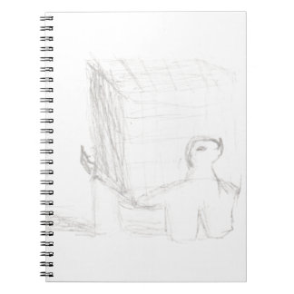 box turtle cube drawing Eliana Spiral Notebook