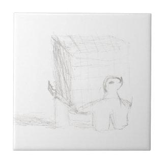 box turtle cube drawing Eliana Tile