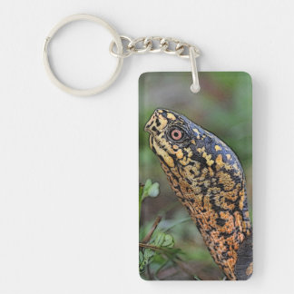 Box Turtle portrait Keychain