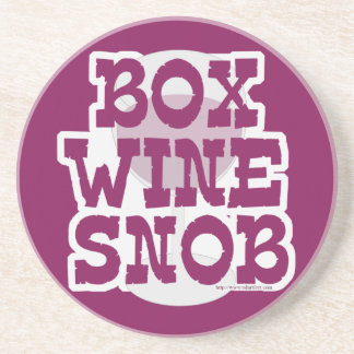 Box Wine Snob Coaster