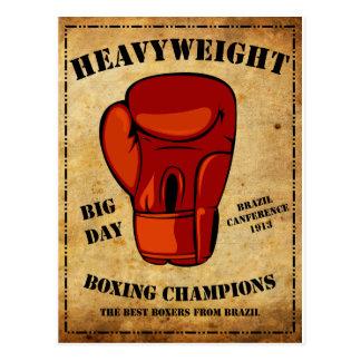 Boxe HEAVYWEIGHT Postcard