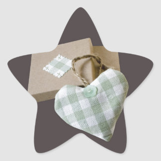 Boxed Heart Save the Date Star Sticker