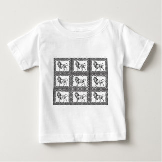 boxed lion in a frame baby T-Shirt