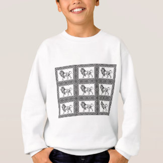 boxed lion in a frame sweatshirt