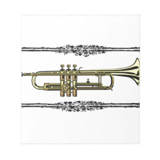 boxed trumpet art notepads