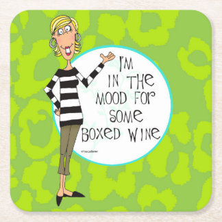 Boxed wine humor coasters