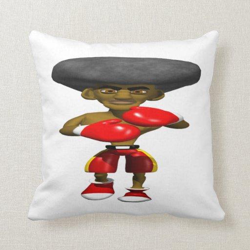 Boxer 3 throw pillows