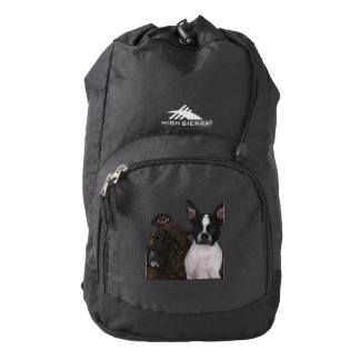 Boxer and Boston Terrier Backpack
