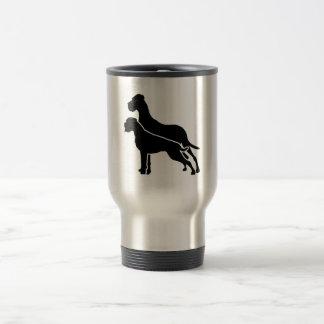 Boxer and great dane travel mug