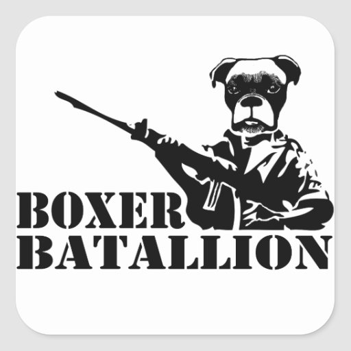Boxer Batallion Sticker