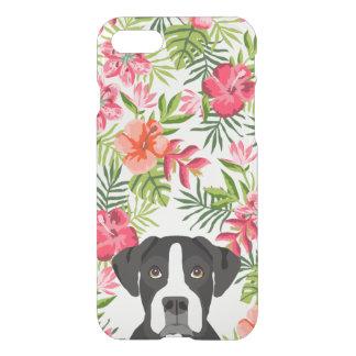 Boxer black and white dog phone case, hawaiian iPhone 7 case