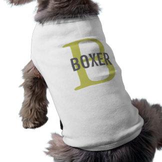 Boxer Breed Monogram Design Dog Tee Shirt