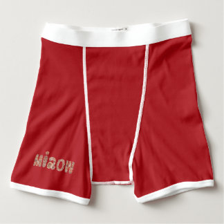Boxer briefs with 'miaow'